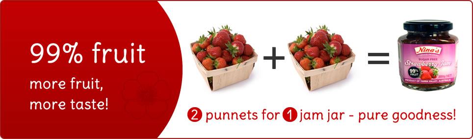 Nina's 99% Fruit Jam